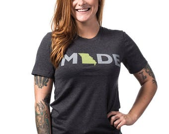 Missouri Made T-shirt - Mo Made - Made in Kansas City - Kansas City Made - Landlocked - A Kansas City Company