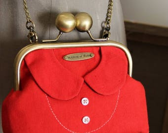 "Vintage ""Cecily's collar"" purse shoulder bag Red"