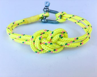 Men's/Women's bracelet in nautical rope with central knot