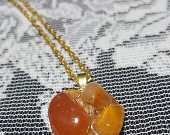 Boho Gypsy Clustered Agate necklace Pendant