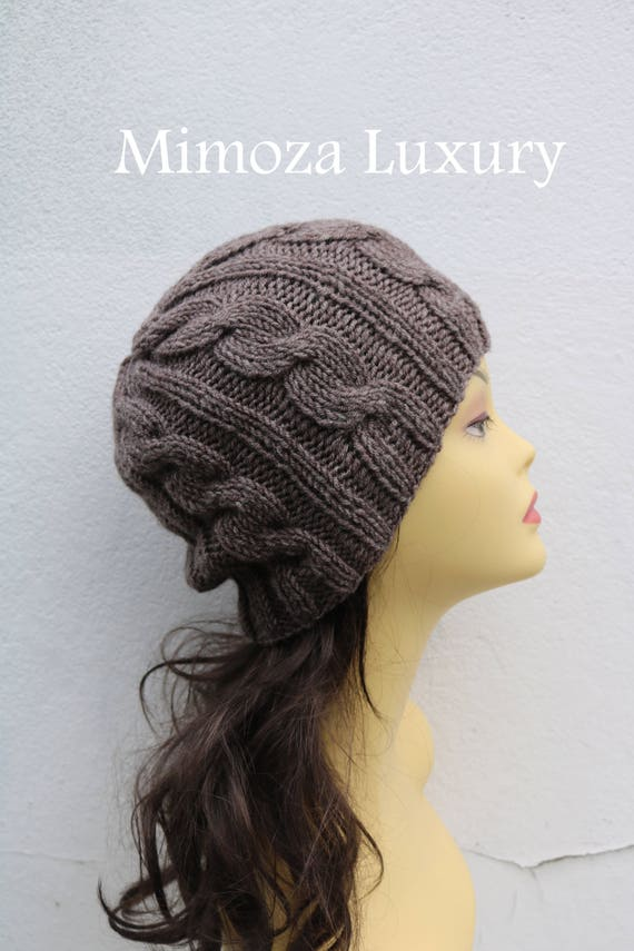 Taupe Brown women's Beanie hat, Hand Knitted Hat in brown beanie hat, knitted men's, women's beanie hat , brown winter beanie hat, ski hat