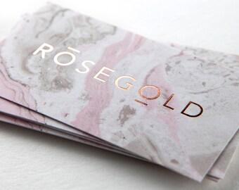 Rose Gold Foil - 250 Business Cards