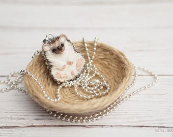 Sweetheart Hedgehog Love Charm Pendant Necklace