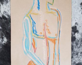 Oil Pastel // Male Sketch