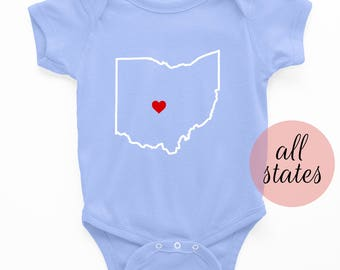 Custom Onesie   State Onesie - New baby outfit - baby boy onesie - new baby girl outfit - new baby - baby shower gift - baby clothing