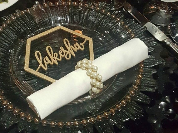 Custom Name Place Setting, Laser Cut Names, Guest Setting, Place Setting, Wedding Place Card, Guest Names, Guest Seating, Place Card
