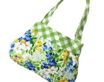 Floral print little girls purse toddler purse kids purse girl birthday gift toddler gift child purse for little girl summer breeze fabric