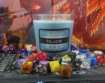 Paladin -- RPG Class Inspired 8 oz Scented Soy Candle
