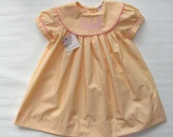 Monogram dress for Girls, Girls Easter Dress, Monogrammed Dress, Girls Birthday Dress, Easter Baby Dress, Easter Outfit, Monogram Dress