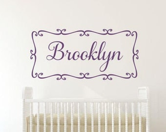 Girl Name Decal Girl Bedroom Decals Personalized Name Decals Baby Girl Nursery Wall Decal Girl Wall Art Decal Bedroom Decal