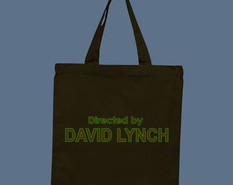 """90s TV Show Credits """"Directed by David Lynch"""" Reusable Vinyl Canvas Tote, Grocery Bag, 100% Cotton"""