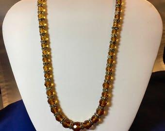 1930's deep, rich topaz necklace