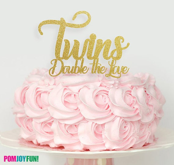 Twin Baby Shower Cake Toppers: Twins Cake Topper Twins Baby Shower Cake Topper Oh Babies