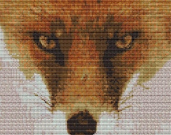 Cross Stitch Kit- Fox face 22cm x 22cm