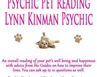 Psychic Pet Reading Lynn Kinman Psychic Medium Animal Psychic Pet Problems Pet Medium Dog Cat Bird Pet Gifts Pet Communication Pet Grief