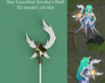 Star Guardian Soraka - 3D STAFF MODEL