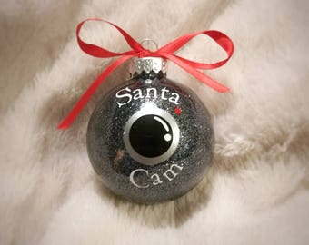 Santa Cam Ornament, Santa Camera Ornament