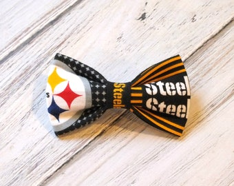 Steelers Dog Bow Tie, Cat Bow Tie, pet bow tie, collar bow tie, wedding bow tie