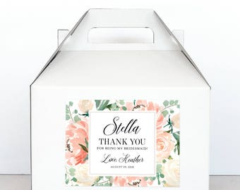 Bridesmaid Gift Box - Bridesmaid Thank You Label and Box -  Bridesmaid Proposal Gift Will You Be My Bridesmaid Gift Box - Bridal Party Gift