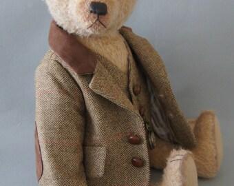 Mark, a 46 CM light brown mohair teddy bear
