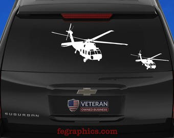 UH-60 Black Hawk - Angle 1 - Vinyl Decal / Sticker