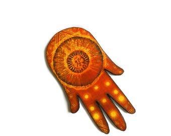 Hamsa Hand Necklace, Evil eye, Good luck, Oriental Ethnic Decor, Vintage Retro style, Red, God of Sun, Astrology, Tarot, Tarotology, Ancient