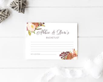 Wedding Guest Book Alternatives. Advice Cards for Bride and Groom. Wedding Bucket List Cards. Bridal Shower Games. Unique Guest Book.