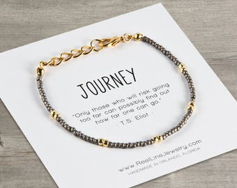 Journey GOLD Boho Bracelet, Wanderlust, Best Friend Bracelets, Friendship Bracelet, Best Friend Gift, Best Friend Friendship Bracelet