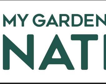 Native Garden Bumper Sticker