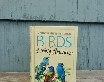 Golden Field Guide to Birds of North America, hardcover book featuring bird drawings and identification, 1966