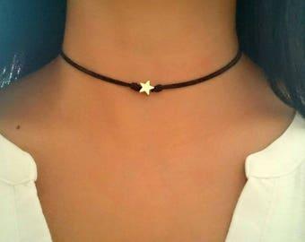 Star Choker, Star Necklace, Gold Star Choker, Boho Choker Necklace, Star Jewelry, Bohemian Choker, Boho Jewelry, Bohemian Jewelry, Gift Idea