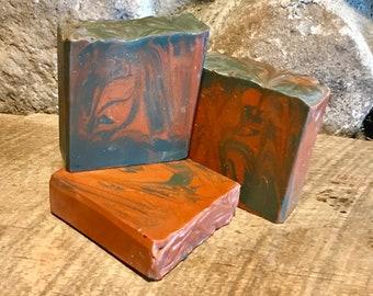 Hippy Daze - Handcrafted Soap with Aloe, Turmeric and Kaolin Clay