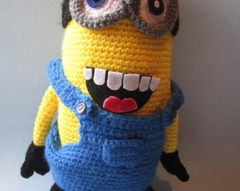 Minions, Crochet, Amigurmi, Minion Doll, Minion Plushie, Minion Gift, Handmade Gifts, Despicable Me Minion,  Stuffed Animals, Great Gifts