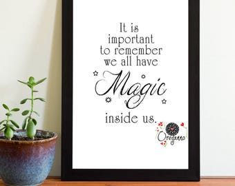 Harry Potter quote printable We all have magic inside us wall art Potter inspirational Teens dorm deco graduation gift inspirational