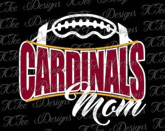 Cardinals Football Mom - Custom SVG Design Download - Vector Cut File
