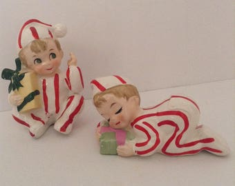 Vintage Christmas Pajama Boys by Inarco