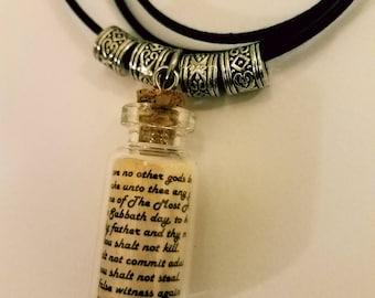 LOVE - 10 Commandment Vial Necklace