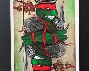 Raphael Playing Card Print