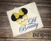 Lil' Beauty Baby Beast | Beauty and the Beast Shirts | Embroidered | Disney Vacation | Family Disney Shirts | Disney Wedding