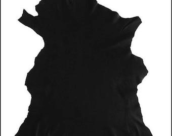 P-A306-charcoal black LAMBSKIN leather skin.