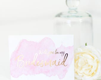 Will you be my Bridesmaid Card - Bridesmaid Proposal Card - Bridesmaid Card - Maid of Honour - Gold Foil