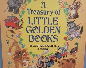 A Treasury of Little Golden Books- Vintage- 36 Stories