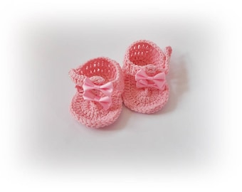 Flip flops Baby flip flops Crochet baby sandals Crochet baby shoes Pink baby flip flops Baby shower gift Newborn sandles