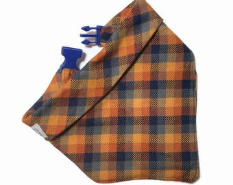 Fall Dog Bandana - Plaid Bandana for Dog - Gift for New Puppy
