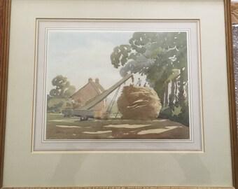 Original Malcolm Abruthnot watercolour 20th century