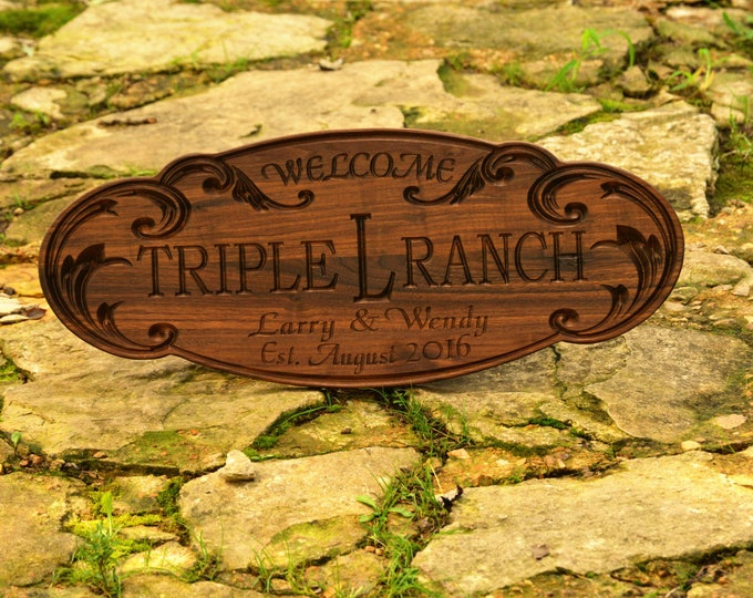 Outdoor Wooden Sign Ranch Custom Wood Sign Family Ranch Farm Sign Personalized Farm Sign Custom Wood Sign Outdoor Wood Sign Best Wood Gift