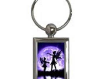 Purple Fairies -- Rectangle Key Chain