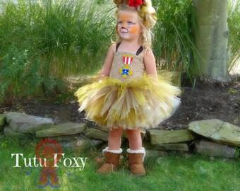 cowardly lion Tutu Dress, cowardly lion Costume, Wizard of Oz Birthday Outfit, Wizard of Oz Costume, lion tutu dress,