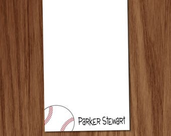 Baseball Notepad Gift for Kids Boys Coaches - Personalized Kids Personal Sports Baseball Stationery Stationary Notepads