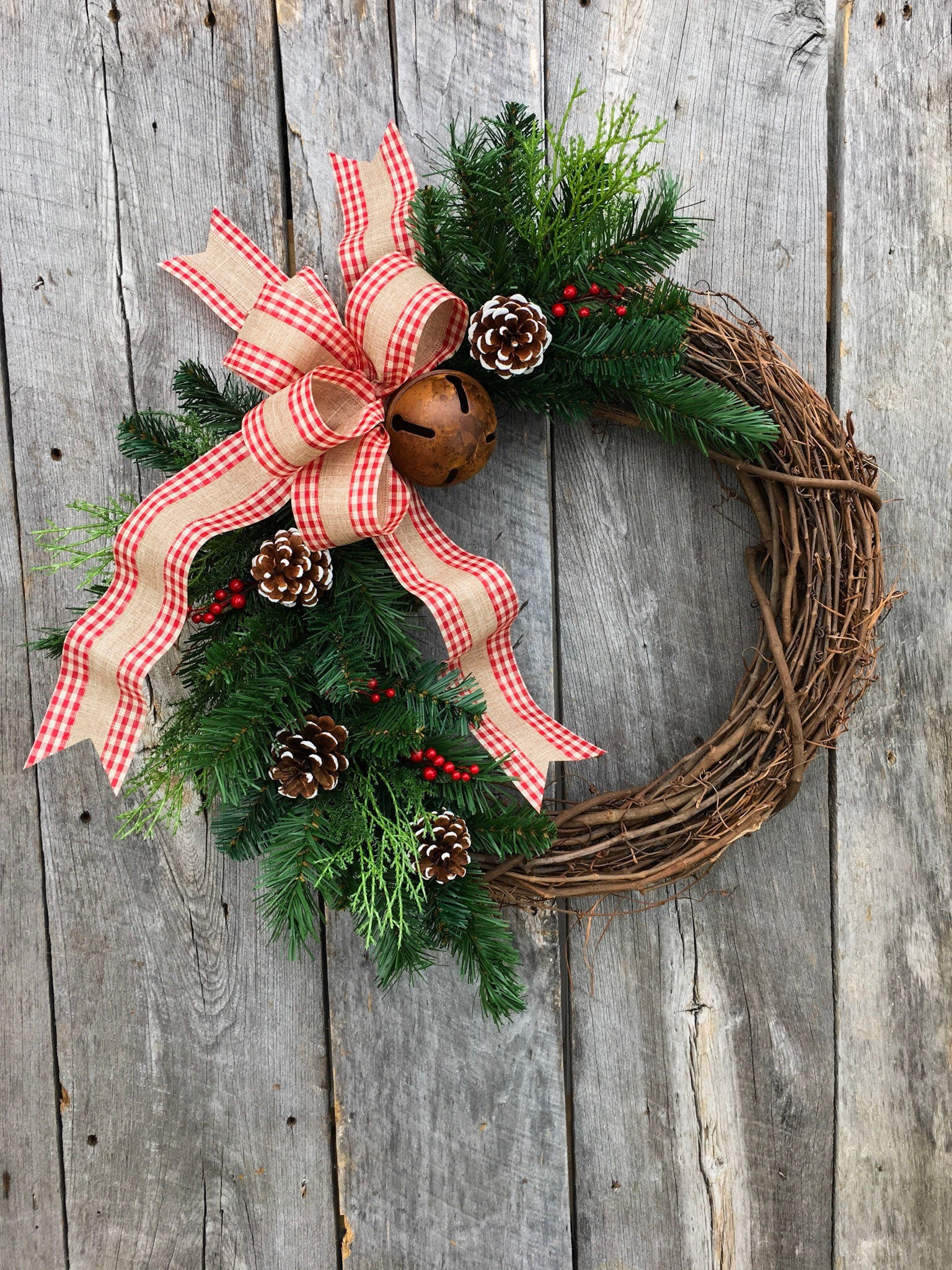 Farmhouse Christmas Wreath Christmas Wreaths For Front Door